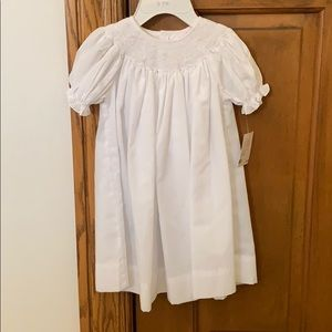NWT! Baby Girl Sz 6mo Petit Ami White Smock Dress